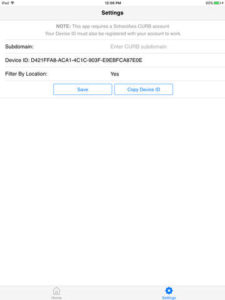 Curb App setting